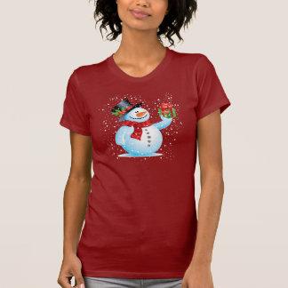 Cute Snowman Holiday T-shirt