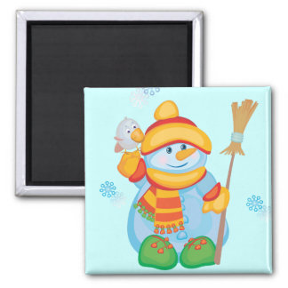 Cute Snowman Magnet for Giving