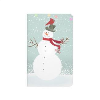 Cute Snowman Merry Christmas Message Holidays Xmas Journal