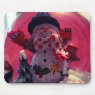 Cute Snowman Mouse Pad