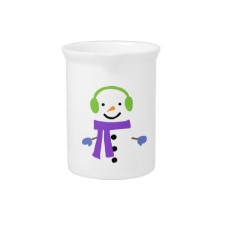 CUTE SNOWMAN PITCHER