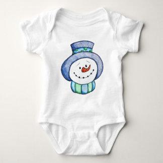 Cute Snowman Ready for Winter Baby Bodysuit