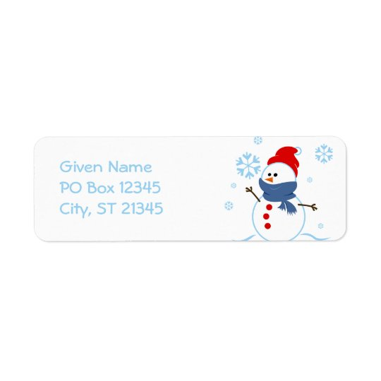 Cute Snowman Return Address Label