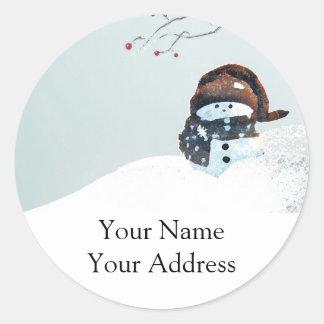 Cute Snowman Return Address Sticker