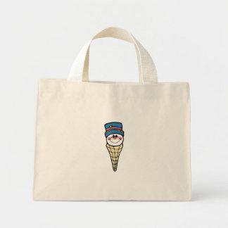 cute snowman snowcone canvas bag