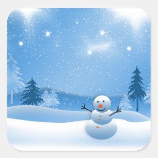 Cute snowman stickers