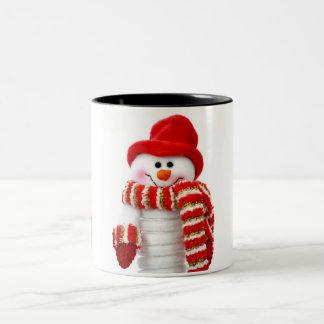 Cute Snowman Two-Tone Mug