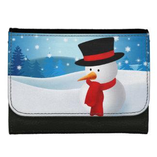 Cute Snowman Wallet For Women
