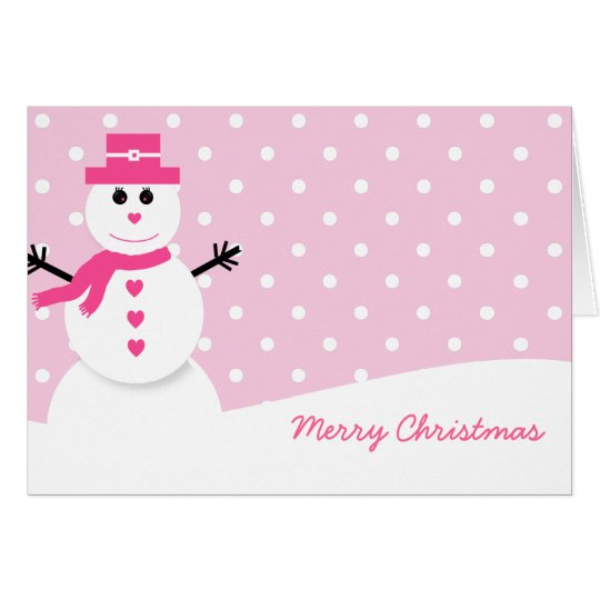 Cute Snowman (woman) Christmas Card