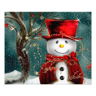Cute snowmans - snowman illustration photo print