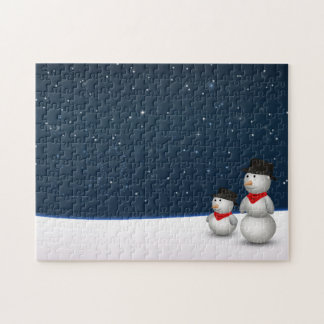 Cute Snowmen Constellation - Puzzle