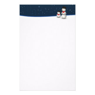 Cute Snowmen Constellation - Stationery Letterhead