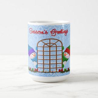Cute Snowmen Season's Greetings Coffee Mug