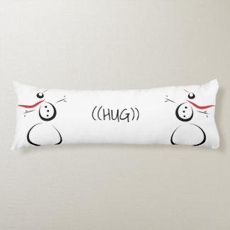 CUTE SNOWMEN Text Hug Body Cushion