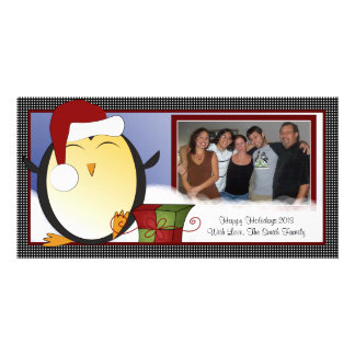 Cute Snowy Penguin Christmas/Holiday Photo Card