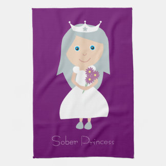 Cute Sober Princess Purple Towels