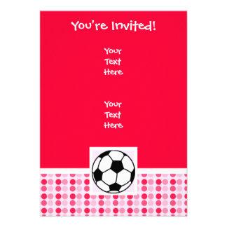 Cute Soccer Ball Custom Invites