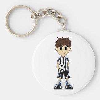 Cute Soccer Boy keychain