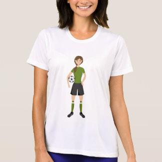 Cute Soccer Football Girl Illustration T-Shirt