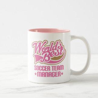 Cute Soccer Team Manager Gift Two-Tone Mug