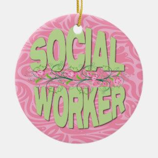 Cute Social Worker Ornament