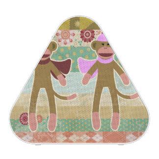 Cute Sock Monkey on Cloth Pattern