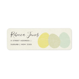 CUTE SOFT SUBTLE PASTEL EASTER EGGS ADDRESS RETURN ADDRESS LABEL