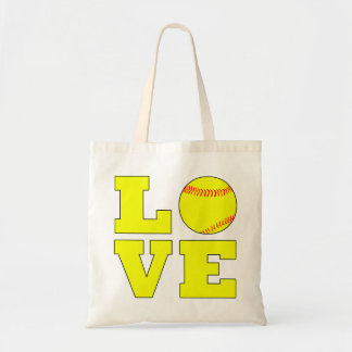Cute Softball Love Bag for Softball Moms and Fans