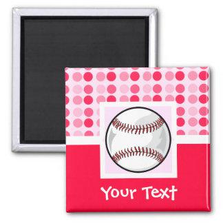 Cute Softball Square Magnet