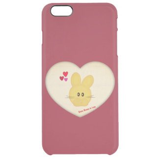 Cute Some Bunny to Love Heart Motif Clear iPhone 6 Plus Case