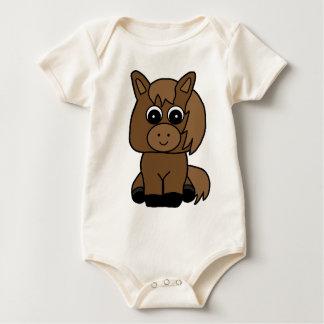 Cute Sorrel Hore Baby Bodysuit