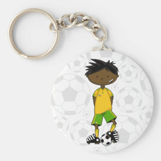 Cute South African Soccer Keychain
