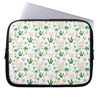 Cute Southern California Animal and Plant Pattern Laptop Computer Sleeve