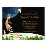 Cute Southwest Kokopelli Save the Date Invitations 11 Cm X 14 Cm Invitation Card