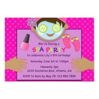 Cute Spa Birthday Party Card