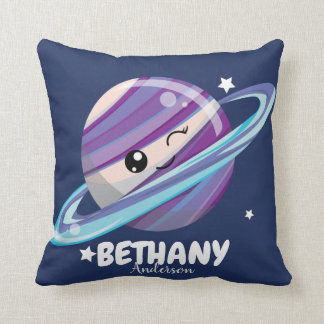 Cute Space Planet Saturn Galaxy Cushion