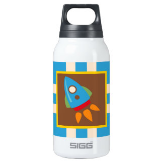 Cute Space Ship Rocket Outer Space Blue Kids 0.3 Litre Insulated SIGG Thermos Water Bottle