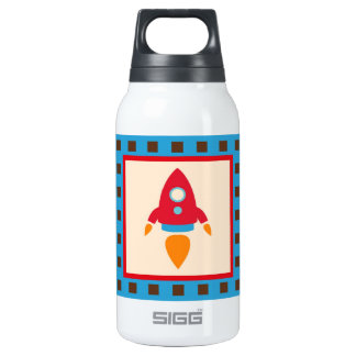 Cute Space Ship Rocket Outer Space Red Blue 0.3 Litre Insulated SIGG Thermos Water Bottle