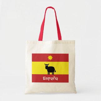 Cute Spanish Bull, Flag & Smiling Sun Tote Bag