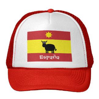 Cute Spanish Bull, Smiling Sun & Flag Cap