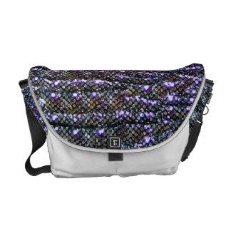 Cute Sparkly Faux Silver Sequin Glitter Design Commuter Bags