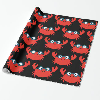 Cute Specky Crab Illustration Wrapping Paper