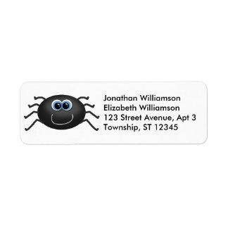 Cute Spider Halloween Return Address Labels
