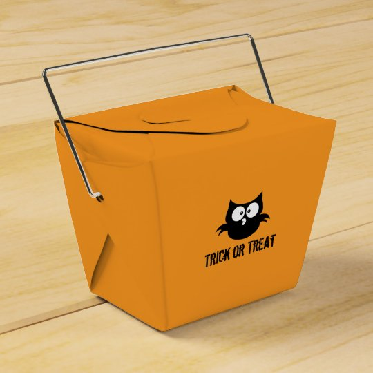 Cute Spooky Halloween Trick or Treat Black Owl Favour Box