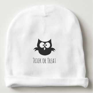 Cute Spooky Halloween Trick or Treat Owl Unisex Baby Beanie