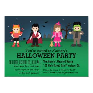 Cute Spooky Monsters Halloween Party 11 Cm X 16 Cm Invitation Card