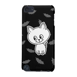 Cute Spooky White Cat and Bats. iPod Touch 5G Cases