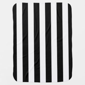 Cute Sporty Referee Stripes Baby Blanket