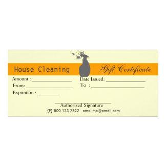 Cute Spray Bottle Housekeeping Gift Certificate
