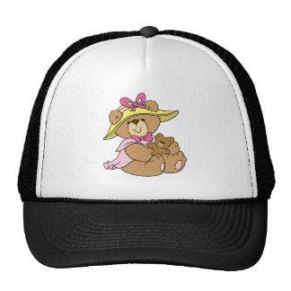 Cute Spring Bonnet Teddy Bear Cap